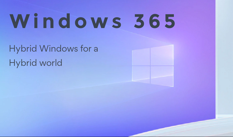 Windows 365 on a colorful background